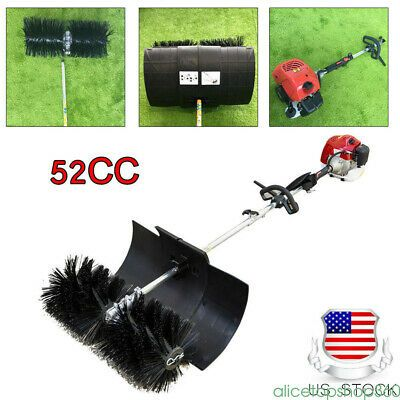 Sponsored Ebay Gas Power Hand Held Broom Sweeper Cleaning Driveway Turf Grass Walk Behind 52cc Sweeper Broom Grass For Sale Turf Grass