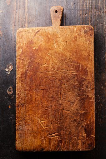 Chopping Board Block On Wooden Background Stock Photo Chopping Board Block On Wooden Background Stock Photo Bac Poster Makanan Papan Tulis Kapur Kreatif