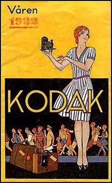 Reproduction poster Kodak Wall art. Vintage photography advertising