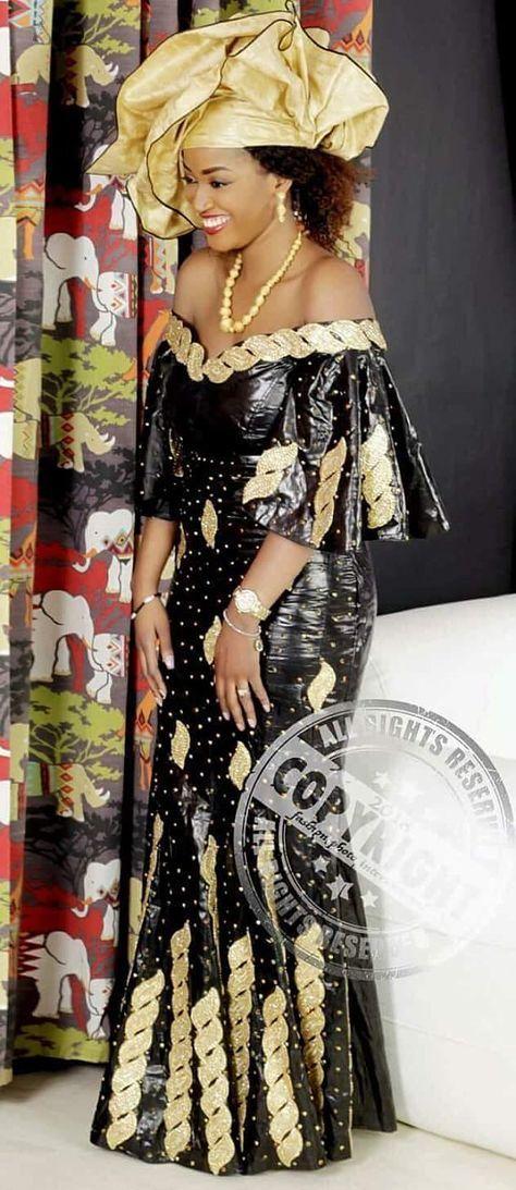 African robe avec dentelle
