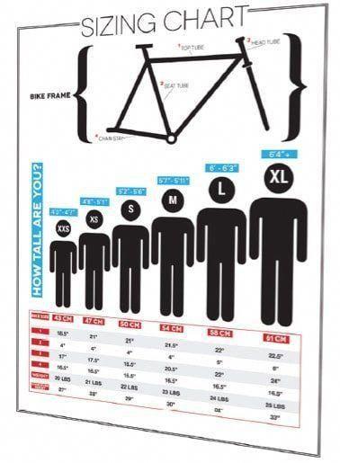 Road Bike Sizing Chart Coolbikeaccessories Roadbikeaccessories