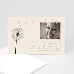 Carte Remerciements Décès Symbolique Avec Photo Illustré D