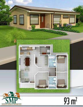 Distribucion Casa 92m2 House Design My House Plans Small House Design