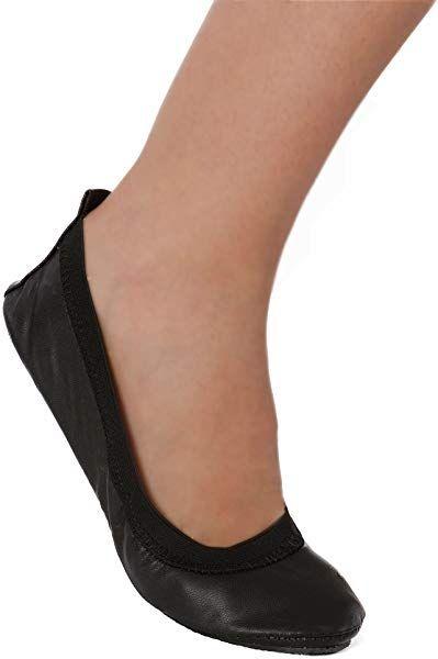 d6c8885f24d09 Amazon.com | Fold up Ballet Flats - Foldable Shoes - Purse Pack ...
