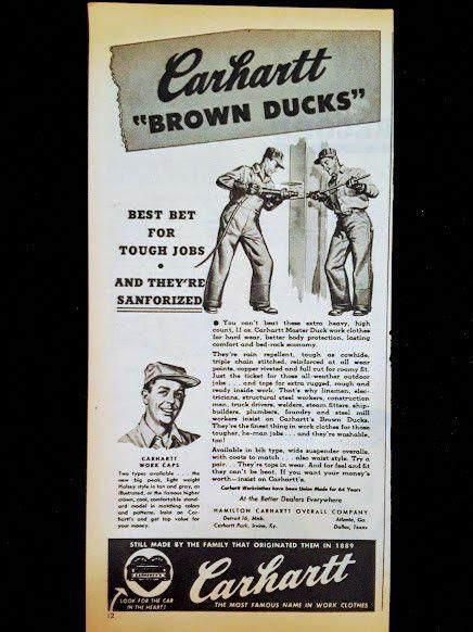 Vintage Carhartt Store advertising Items Mayfield Kentucky
