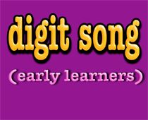 1-9 digit song for kindergarten and early learners