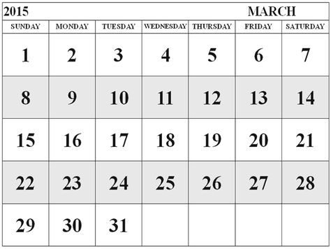 Best Collection Of March 2015 Calendar With Notes Cute March 2015