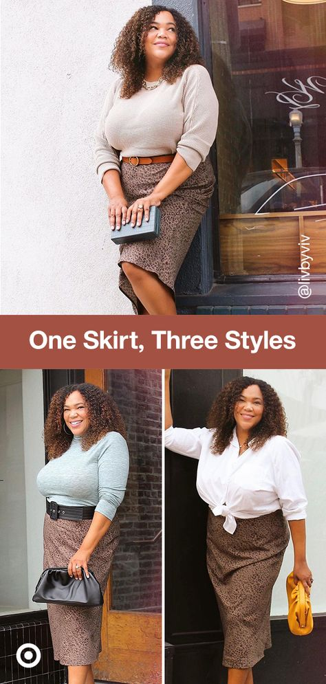 Style a skirt with a knotted shirt for an elegant holiday outfit or a turtleneck top  belt for a trendy take on winter party fashion.
