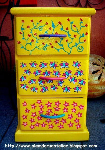 PASSO A PASSO de um Criado Mudo Pintado à Mão | Alem da Rua Atelier  #DIY #customfurniture
