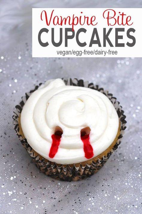 Vampire Bite Cupcakes {dairy-free}