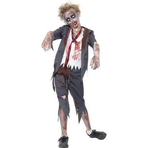 Halloween Kostume Jungs.Zombie School Boy Kostum Gezackter Saum Online Kaufen Halloween Kostume Jungen Zombie Kostum Kostum Junge