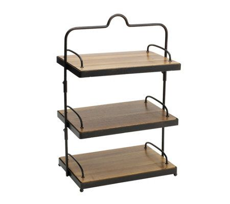 Gourmet Basics By Mikasa 3 Tier Sierra Adjustable Buffet Stand Qvc Com Buffet Stand Gourmet Basics By Mikasa Cake Stand Set