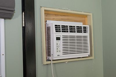 Installing A Window Ac In The Wall Window Air Conditioner Wall