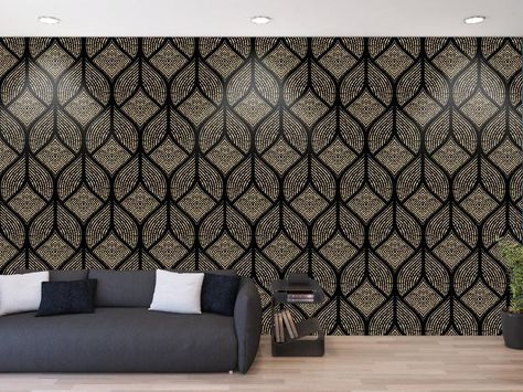 Dark Floral Vintage Wallpaper Black Ethnic Seamless Ornament Removable Wallpaper Classic Gray Indian Pattern Self Adhesive Peel And Stick Wreaths Door Hangers Home Living