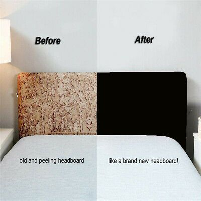 Black Stretch Bed Headboard Cover Protector Slipcover Suits For