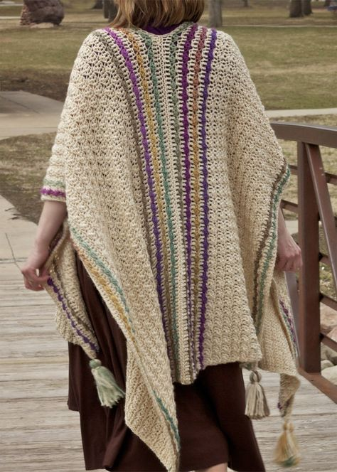 Crochet poncho 309059593178476334 - Many Wonders Ruana Wrap Free Crochet Pattern – Nana's Crafty Home Source by feelingdoz Crochet Cape Pattern, Crochet Poncho Patterns, Crochet Shawls And Wraps, Wrap Pattern, Crochet Scarves, Crochet Clothes, Crochet Hooks, Free Crochet, Knit Crochet