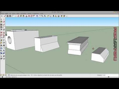 Tutorial Google Sketchup 8 Espanol Parte 2 Youtube Tutoriales Videos Tutoriales Videos