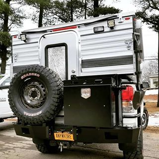 Four Wheel Camper And Toyota Tundra With Aluminess Rear Bumper