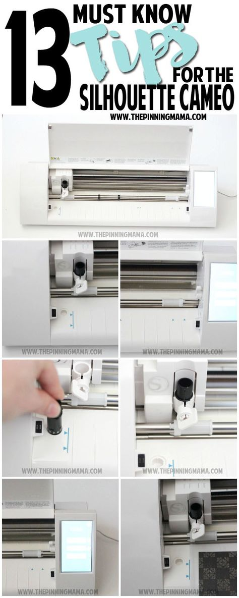 13 MUST KNOW Tips for New Silhouette CAMEO Users - These are GREAT! Avoid all the common pitfalls when you are a new to your machine and get cutting like a pro in no time! This answers all the frequently asked questions and common mistakes.