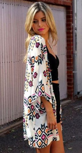 Do you believe that we just happen to have the half sleeve kimono that you are looking for? So we literally couldn't wait to show you this beauty.More choice at OASAP!