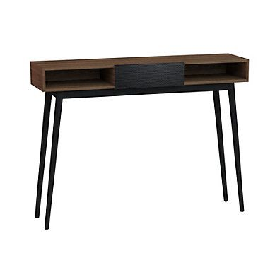 Console Floden Noyer Noir But Salon Entree Industriel Style Decoration Console Mobilier Salon