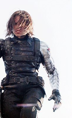 Discover & share this The Winter Soldier GIF with everyone you know. GIPHY is how you search, share, discover, and create GIFs. Sebastian Stan, Marvel Funny, Marvel Avengers, Bucky Barnes Aesthetic, James Barnes, Dc Movies, Stucky, Steve Rogers, Winter Soldier
