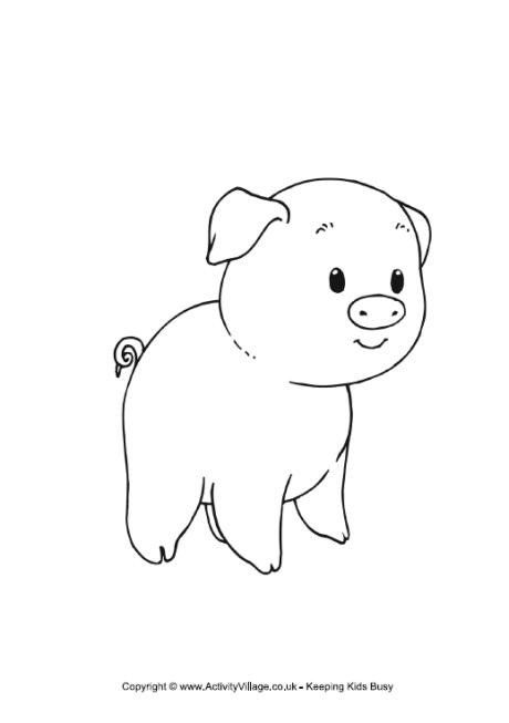 Cute Baby Pig Coloring Pages Cute Pig Coloring Page Cute Piglet Pig In A Teacup Coloring Cute Coloring Pages Pig Crafts Cute Baby Pigs