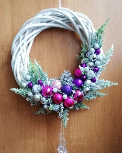 Piekny Wianek Na Drzwi Stroik Boze Narodzenie 7680793900 Oficjalne Archiwum Allegro Christmas Wreaths Christmas Holiday Decor