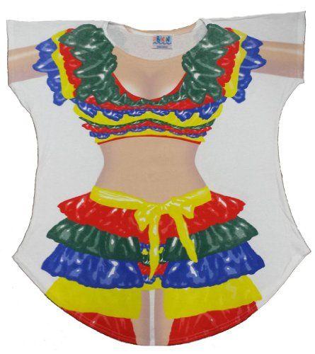 Canada Girl Women/'s Fun Party Wear Bathing Suit Bikini Cover Up Oversize T-Shirt