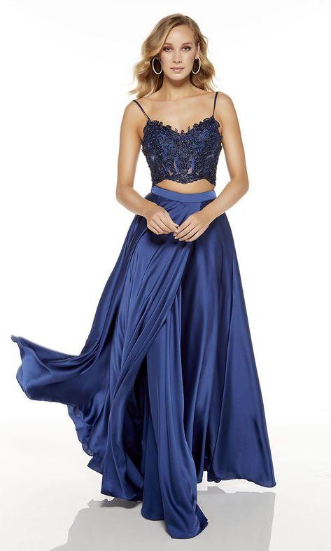 Photo of Alyce Paris – 60777 Two Piece V-Neck A-Line Dress