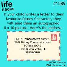 20 Life Hacks Every Parent Needs to Know! Send a letter to your favorite disney character!