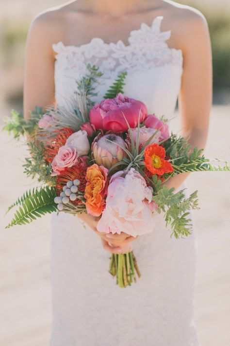 Peony bouquet wildflower look