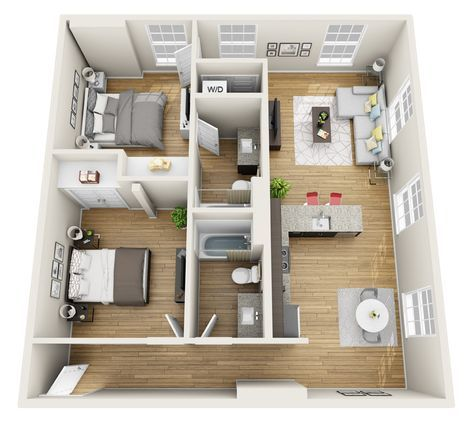 20 Ideas For Apartment Loft Layout Floor Plans In 2020 With Images Apartment Layout 2 Bedroom Apartment Floor Plan Apartment Floor Plans