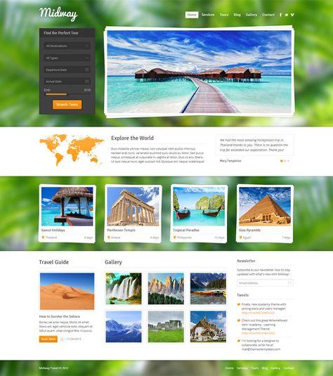 Midway WordPress theme for travel   Web design inspiration ...