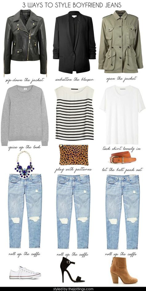 One boyfriend jean, endless fashion opportunities!
