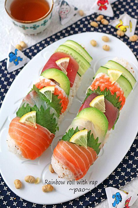 節分の恵方巻やひなまつりに♪巻きすいらずの簡単レインボーロール寿司 - ぱおの15分でできる♪忙しい日の簡単スピードごはん [公式連載][レシピブログ]