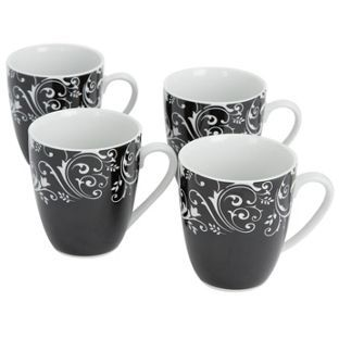Buy Damask Set of 4 Mugs Black at Argos.co.uk Your