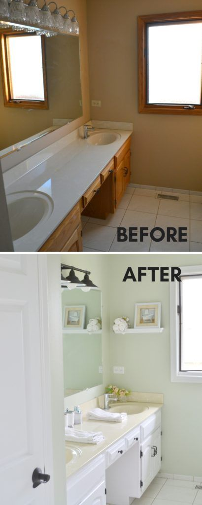 Our Second Floor Bathroom Makeover For Under 100 With Images Inexpensive Bathroom Remodel Bathrooms Remodel Bathroom Makeover