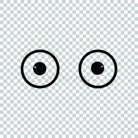 Cartoon Eyes Sign Black Icon On Transparent Background Illustr Stock Ad Sign Black Cartoon Eyes Ad Cartoon Eyes Transparent Background Cartoon