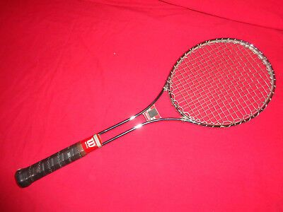 Details About Vintage Wilson T3000 Jimmy Connors Tennis Racquet Leather Grip 4 5 8 Vgc In 2020 Tennis Racquet Bag Jimmy Connors