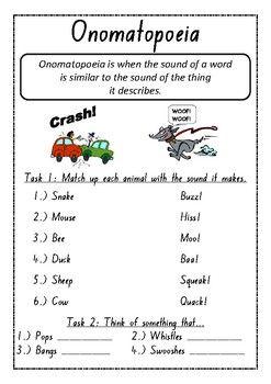 Onomatopoeia Worksheets | Sentence writing, Worksheets ...