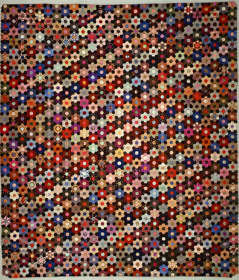 Anne Record | Quilt, Hexagon or mosaic pattern | American | The Metropolitan Museum of Art
