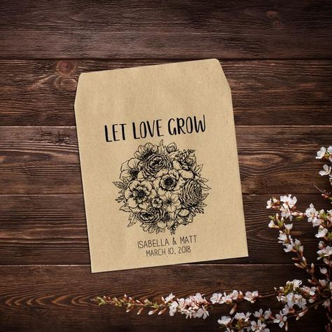 Seed Packet Favors, Let Love Grow, Wedding Seed #seedpackets #seedfavors #weddingfavors #weddingseedfavor #wildflowerseeds #letlovegrow #weddingseedpackets #rusticwedding #bohowedding #seedpacketfavor #rusticfavor #flowerseedpacket #seedpacketfavors