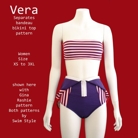 Separates Vera Bandeau bikini top pattern – Swim Style