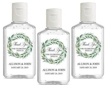 Bridal Shower Favors Hand Sanitizer Personalized Wedding 70 Super