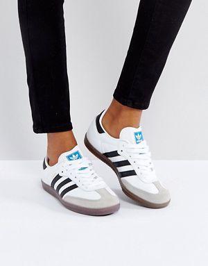 adidas Originals Samba Trainer In White | Samba shoes