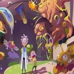 لعبة تركيب صور ريكي ومارتي Rick And Morty Slide Anime Arcade Art