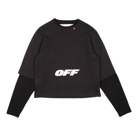 Wing Off double sleeve tee from the Pre-Fall 2018 Off-White c/o Virgil Abloh collection in black