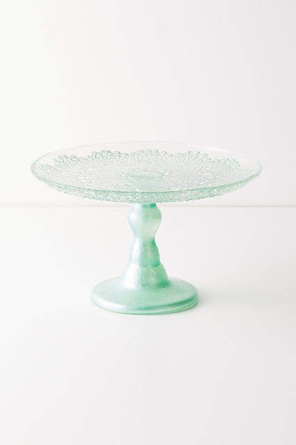 Anthropologie Metallic Lace Cake Stand 8 Inches Cake Kitchens
