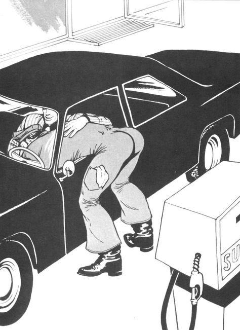 Kake vol. 12: Service Station, p. 7:20 | Tom of finland, Cartoon ...
